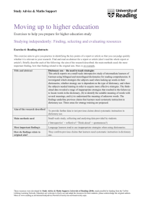 Rdg Document Template - University of Reading