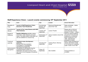 Launch events for Staff Experience Vision commencing 19th