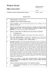 G/SPS/N/USA/2157 Page 1 World Trade Organization G/SPS/N/USA