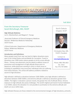 Fall 2014 E-Newsletter - American College of Emergency Physicians