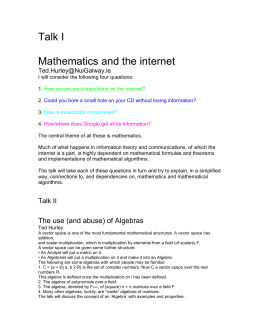 Mathematics and the internet