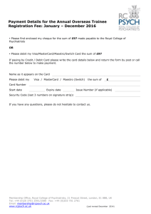 payment form - Royal College of Psychiatrists