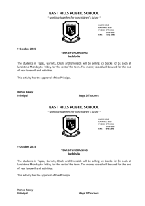 Information Note - East Hills Public School