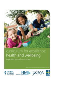 Health and wellbeing: Experiences and outcomes