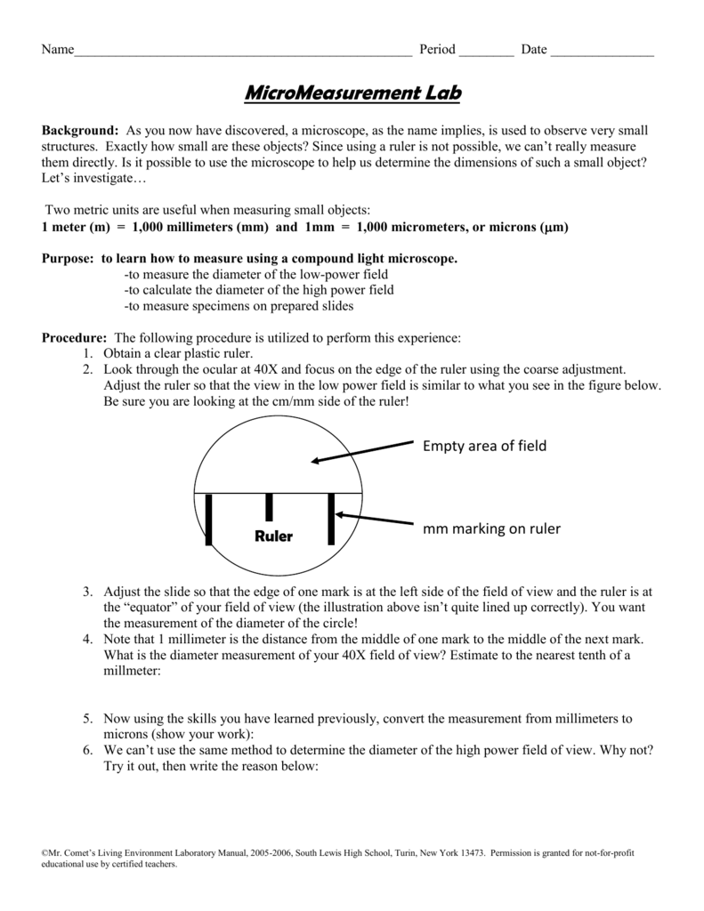 Microscope Lab Worksheet Answers Livinghealthybulletin