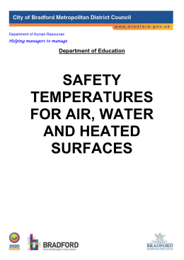 Hot Water, Surface and Air Temperatures