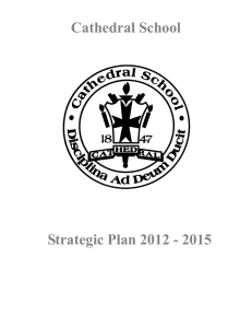 Strategic Plan - Cathedral School