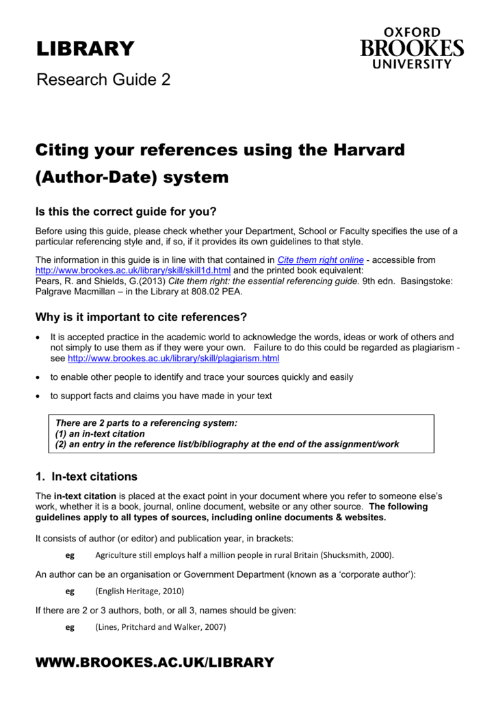 Citing your references using the harvard author ccuart