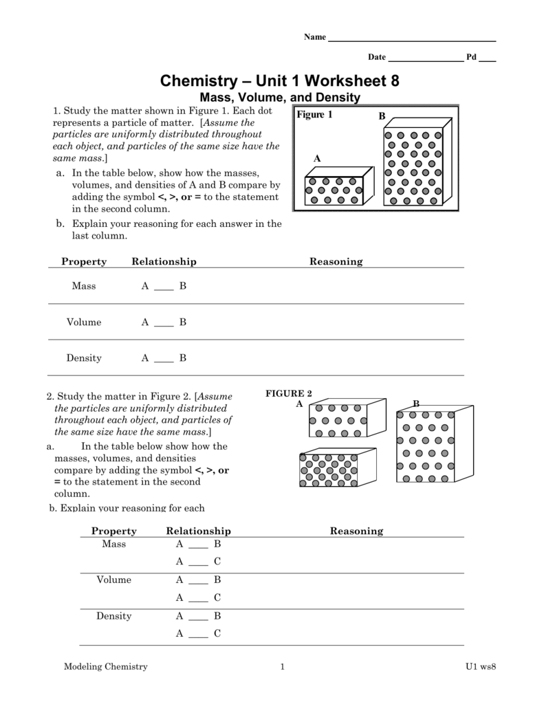 Chemistry unit 1 worksheet 3 cockpito worksheet 8 robcynllc Image collections