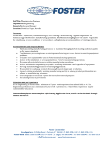 Job Title: Manufacturing Engineer Department: Engineering Reports