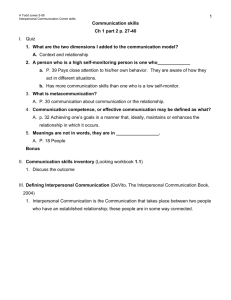 Communication skills Ch 1 part 2