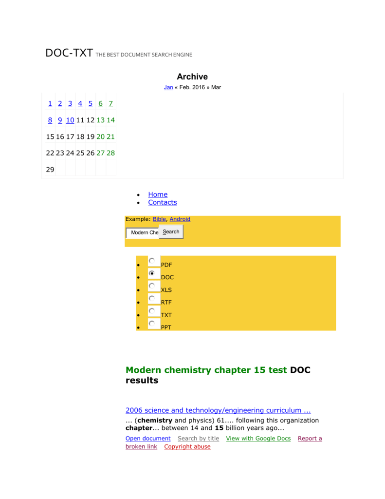 Modern Chemistry Chapter 15 Test - DOC documents - Doc-Txt