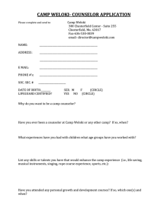 Counselor Application