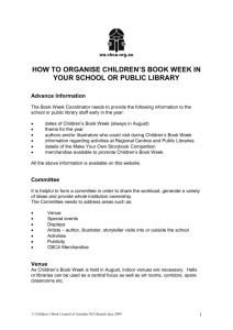 how to organise children`s book week in your school or public library