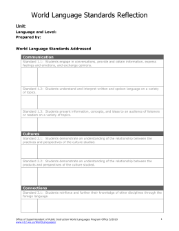 Sabine high school spanish 1 lesson plans megan bice for World language lesson plan template
