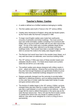 Teachers` Notes: Castles