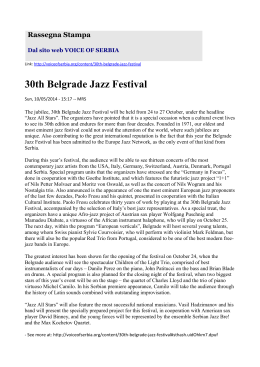 30th Belgrade Jazz Festival