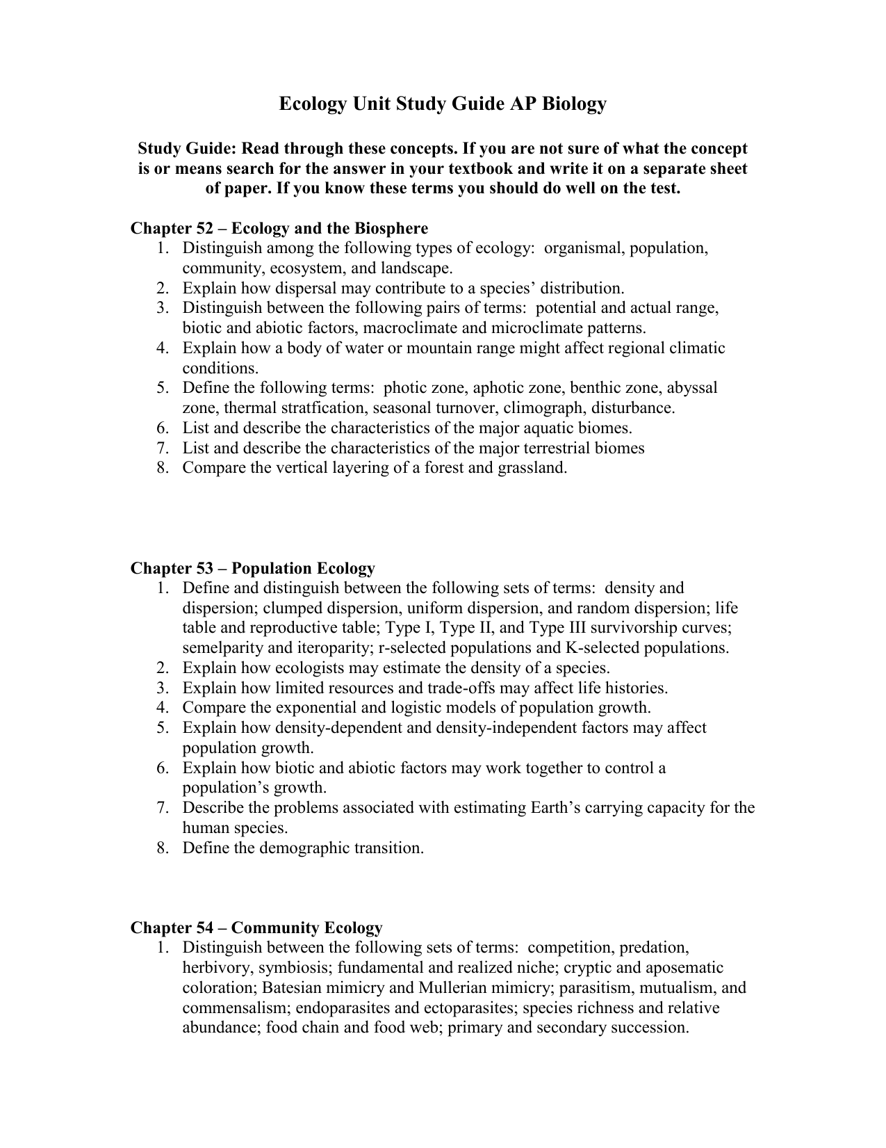 ecology research paper pdf