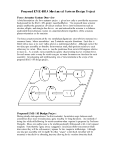 Proposed EME-185A Mechanical Systems Design Project