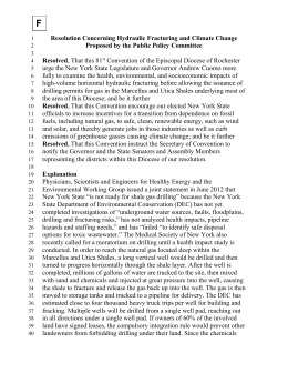 F Resolution Concerning Hydraulic Fracturing
