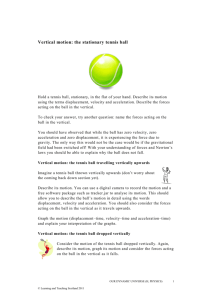 Vertical motion: the stationary tennis ball