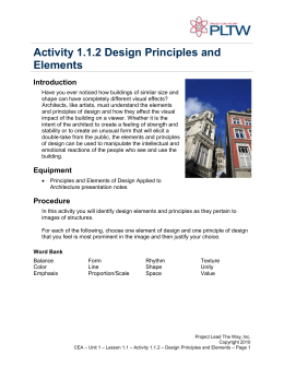 Activity 1.1.2 Design Principles and Elements