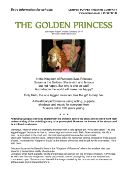 The Golden Princess Info for Schools