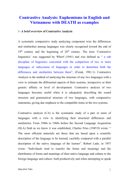 Contrastive Analysis: Euphemisms in English and Vietnamese with