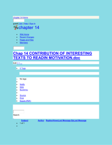 chapter 14 - Chap 14 CONTRIBUTION OF INTERESTING TEXTS TO