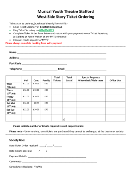 WSS ticket order form