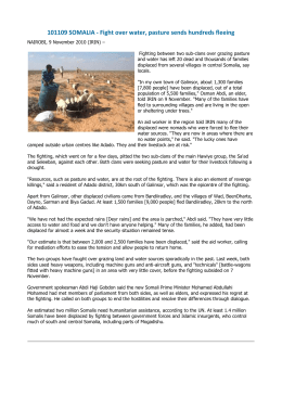 101109 SOMALIA - Fight over water, pasture sends