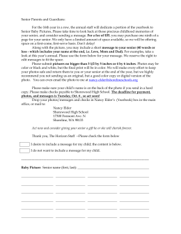 Senior Parents and Guardians: