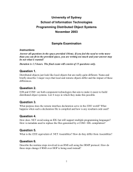 2003 Exam Questions - The University of Sydney
