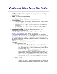 Reading and Writing Lesson Plan Outline