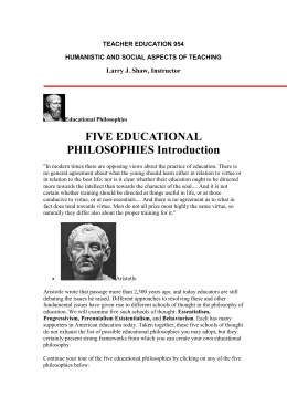 five educational philosophies - Department of Science Teaching