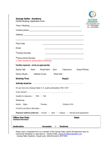 Facilities Booking Form
