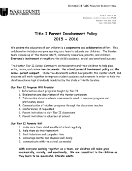 Title I Parent Involvement Policy 2015