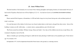 [5] James William Porter The third member of the Kentucky trio was