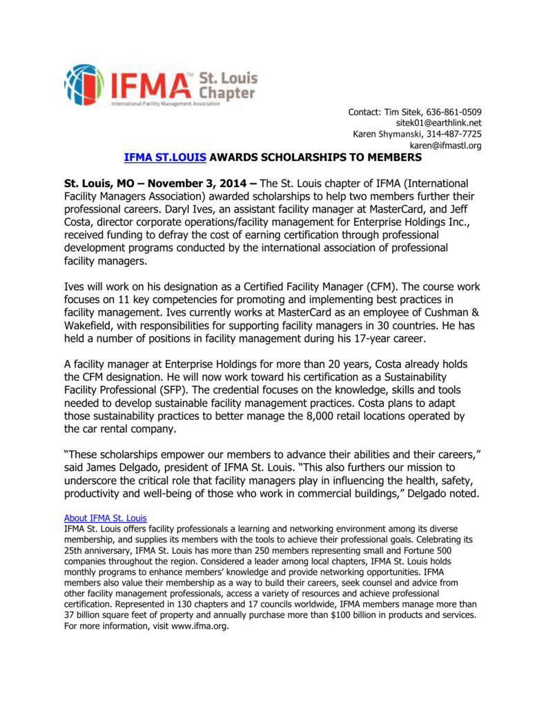 November 3 2014 The St Louis Chapter Of Ifma