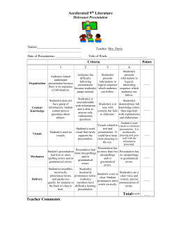 Holocaust Presentation Rubric