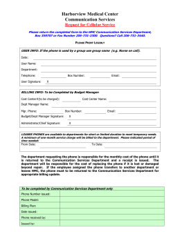 Cellular Phone Authorization Form