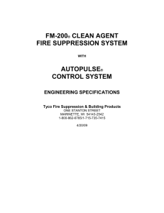 FM-200 CLEAN AGENT Fire Suppression System with - Pyro-Chem
