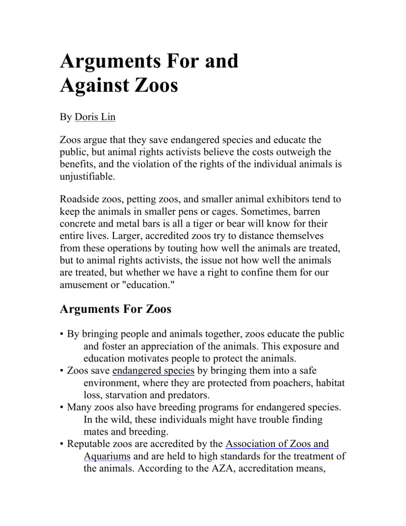 Write argument essay on zoos are beneficial to animals