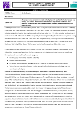 JSNA Best Practice Cambridge Summary Report