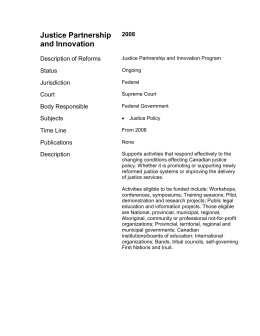 Justice Partnership and Innovation
