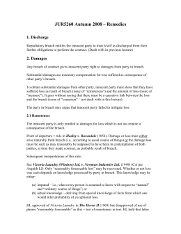 Business law four step process remedies of breach of contract