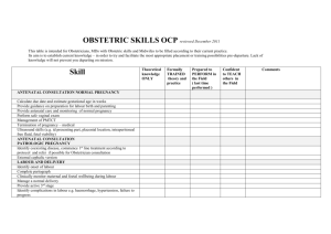OBSTETRIC SKILLS OCP reviewed December 2011