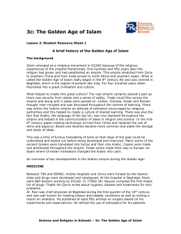 3c: The Golden Age of Islam