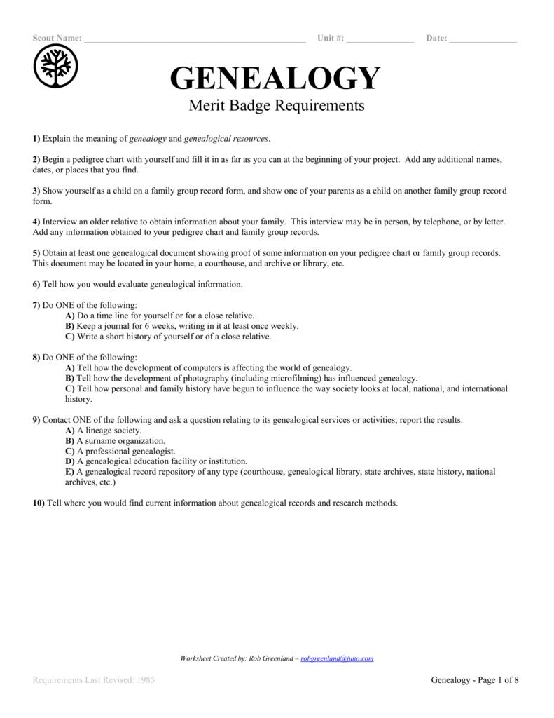 Photography Merit Badge Worksheet Answers ...