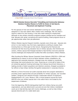 Customer - Military Spouse Corporate Career Network